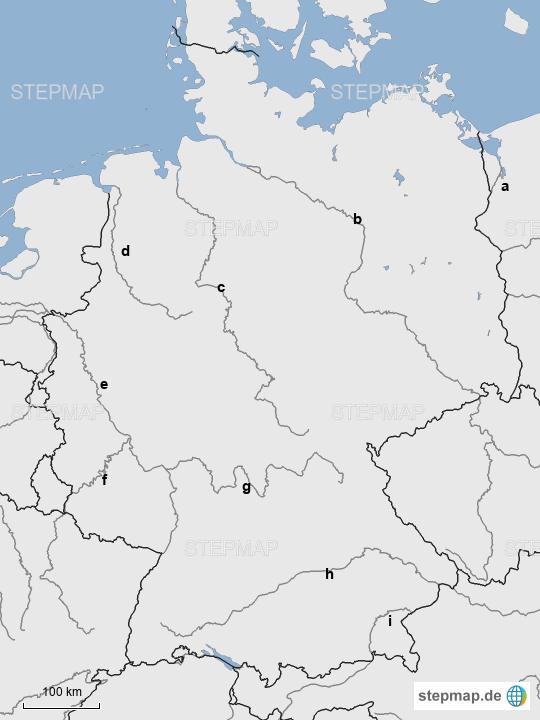 Stumme Karte Deutschland Flüsse.Stepmap Stumme Karte Flüsse Landkarte Für Deutschland
