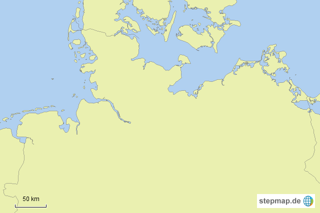 karte norddeutschland StepMap   Stumme Karte Norddeutschland   Landkarte für Deutschland karte norddeutschland