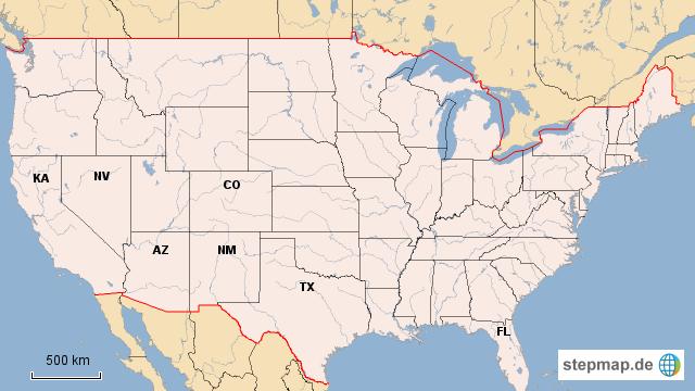 Stepmap Stumme Karte Staaten Usa Landkarte Fur Deutschland