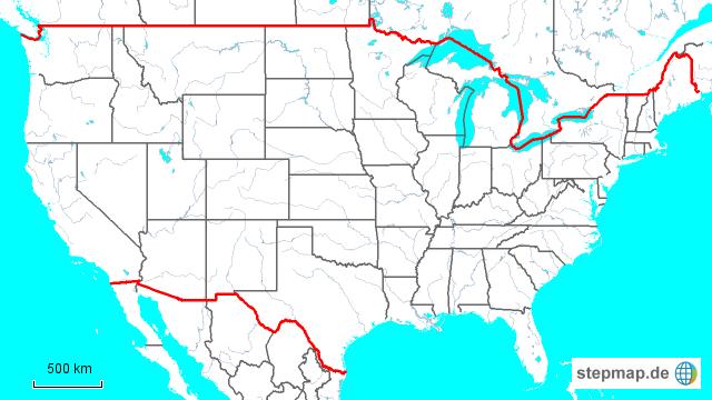 stumme karte usa StepMap   Stumme Karte USA   Landkarte für Nordamerika