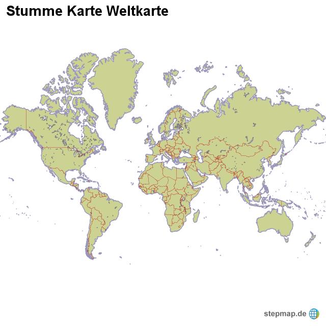 Stepmap Stumme Karte Weltkarte Landkarte Für Welt