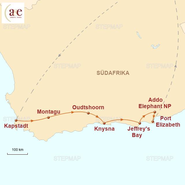 Karte Südafrika Garden Route.Stepmap Südafrika Garden Route Landkarte Für Südafrika