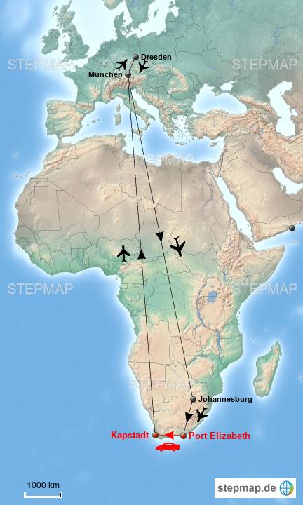 Karte Südafrika Garden Route.Stepmap Südafrika Garden Route Landkarte Für Afrika