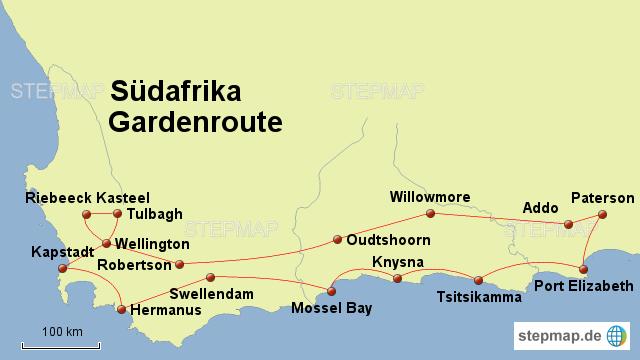 Karte Südafrika Garden Route.Stepmap Südafrika Gardenroute Landkarte Für Deutschland