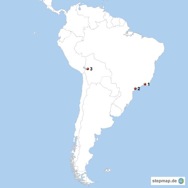Lateinamerika Karte Gebirge.Stepmap Südamerika Landkarte Für Südamerika
