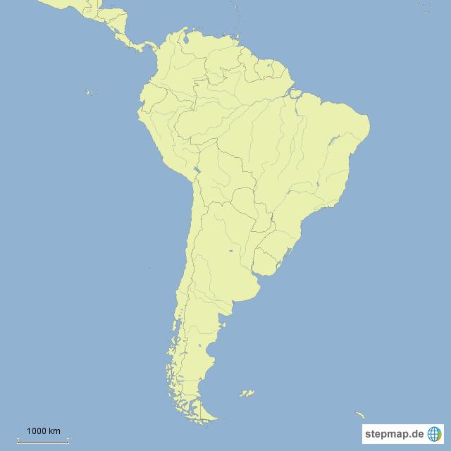 Südamerika Karte Ohne Beschriftung.Stepmap Südamerika Leer Landkarte Für Südamerika