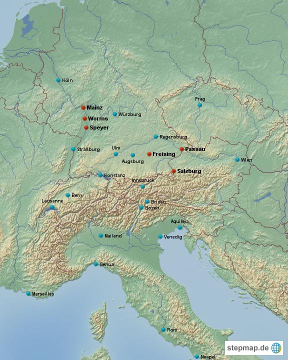 Norditalien Karte.Stepmap Suddeutschland Alpen Norditalien Landkarte