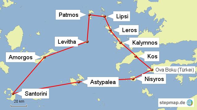 Kykladen Karte.Stepmap Südliche Sporaden Kykladen Landkarte Für Griechenland