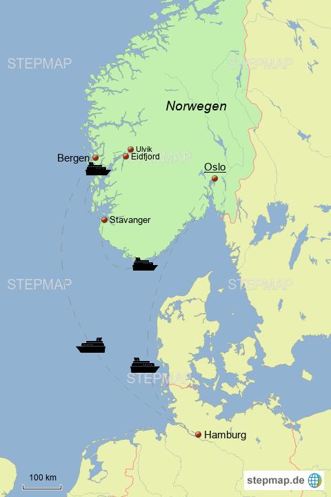 Karte Südnorwegen.Stepmap Südnorwegen Mit Aida 2014 Landkarte Für Norwegen