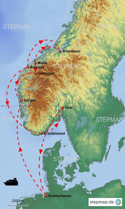 Karte Südnorwegen.Stepmap Südnorwegen Mit Trondheim Landkarte Für Norwegen