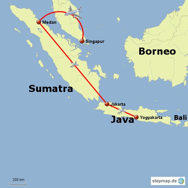 Carte Bali Sumatra.Stepmap Sumatra Java Bali Landkarte Fur Indonesien