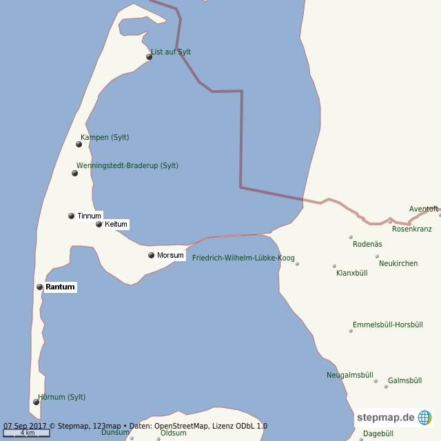 Karte Von Sylt.Stepmap Sylt Landkarte Für Welt