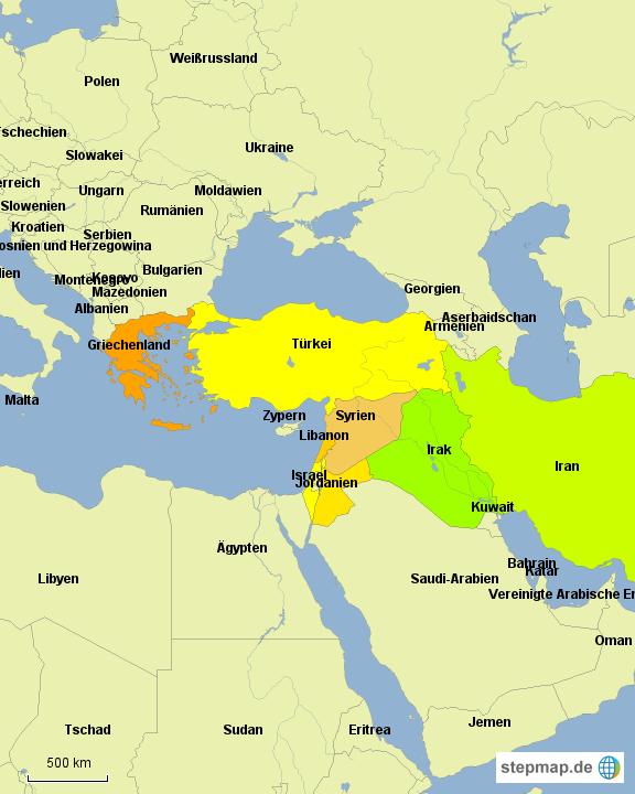 Syrien Karte 2016.Stepmap Syrien Fluchtwege Landkarte Für Deutschland