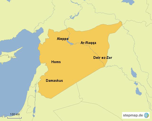 Syrien Karte 2016.Stepmap Syrien Karte Landkarte Fur Syrien