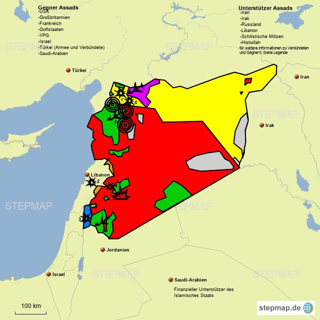 Syrien Irak Karte.Stepmap Syrien Konflikt Landkarte Für Syrien