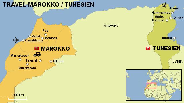 Tunesien Karte Welt.Stepmap Travel Marokko Tunesien Landkarte Fur Afrika