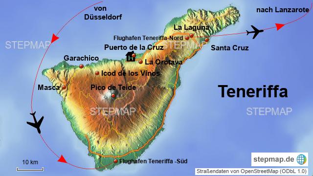 Karte Von Teneriffa.Stepmap Teneriffa Landkarte Für Spanien