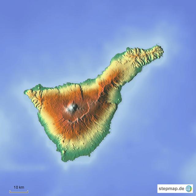 Stepmap Teneriffa Topographie Landkarte Fur Spanien