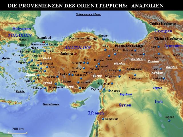 anatolien karte StepMap   Teppichkarte Anatolien   Landkarte für Asien