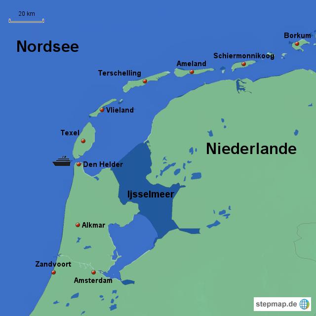 texel karte StepMap   Texel 2013   Landkarte für Deutschland