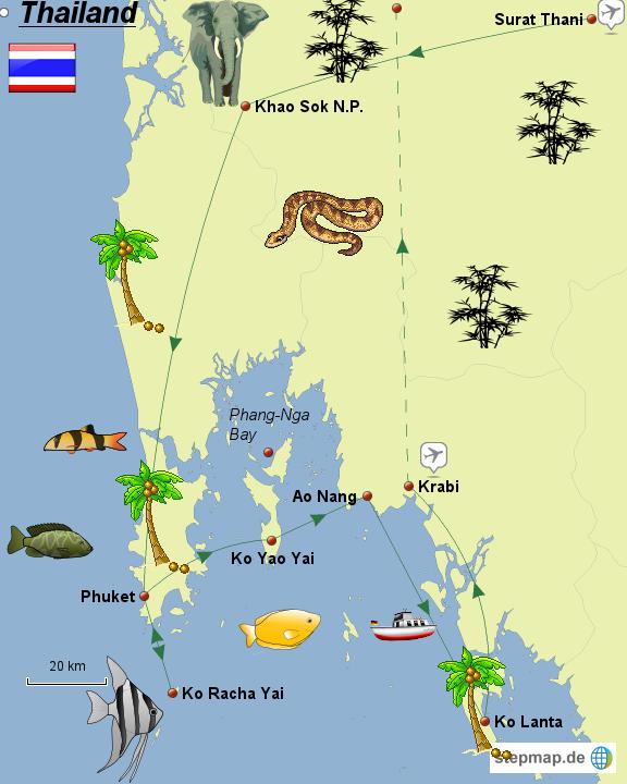 thailand karte süden StepMap   Thailand   Der Süden   Landkarte für Thailand thailand karte süden