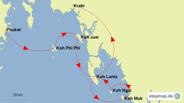 Thailand Inseln Karte.Stepmap Thailand Inseln Landkarte Für Asien