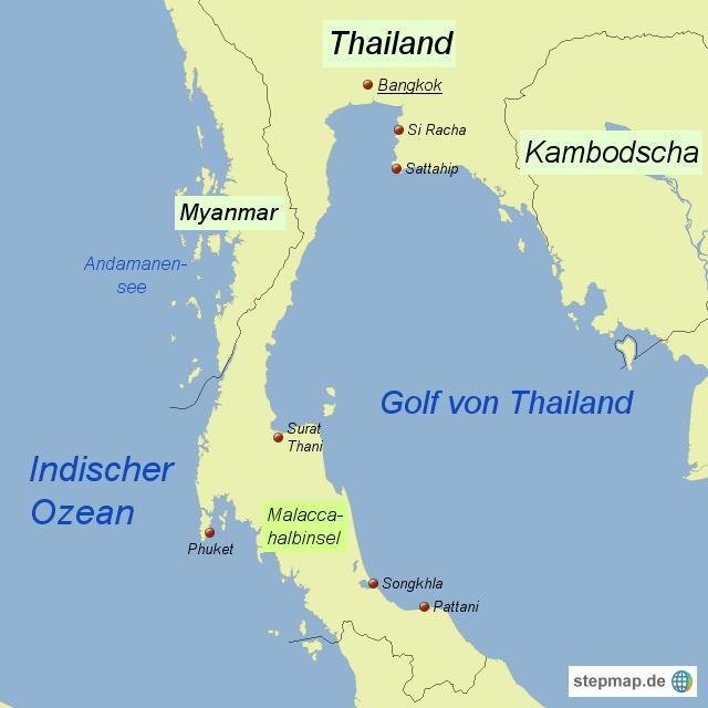 Thailand Phi Phi Island Map