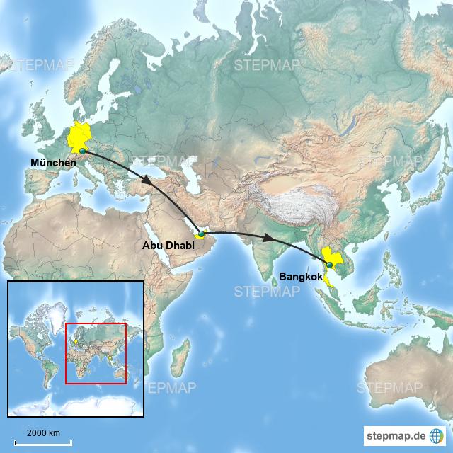 Thailand Karte Welt.Stepmap Thailand Weltkarte Landkarte Für Deutschland