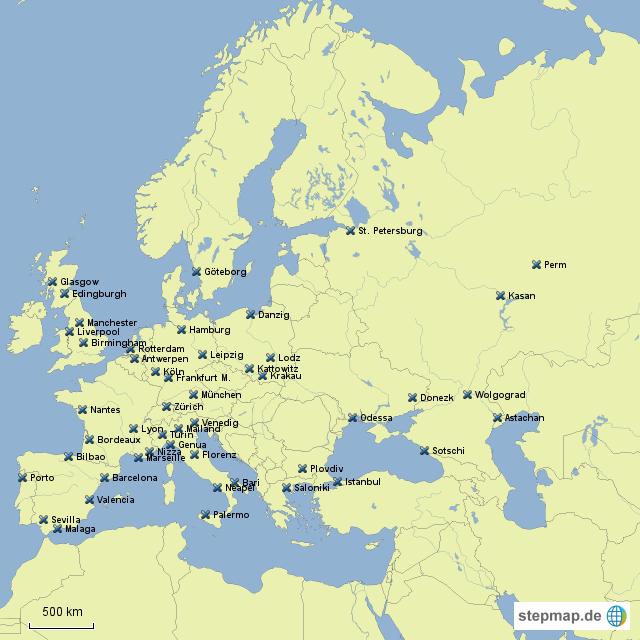 stepmap topo europa st dte landkarte f r deutschland. Black Bedroom Furniture Sets. Home Design Ideas