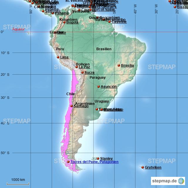 Chile Patagonien Karte.Stepmap Torres Del Paine Patagonien Chile Landkarte