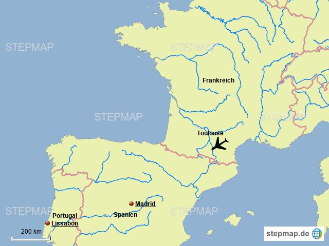 Toulouse Karte.Stepmap Toulouse Landkarte Für Deutschland