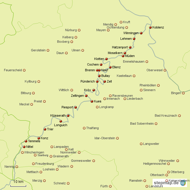 Stepmap Tour Mosel Landkarte Fur Deutschland