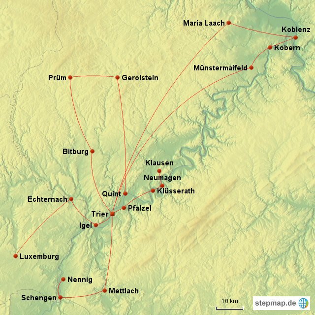 Trier Karte Umgebung.Stepmap Trier Und Umgebung Landkarte Für Deutschland