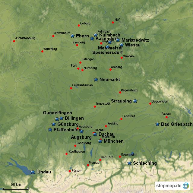 Stepmap Trimm Dich Pfade In Bayern Landkarte Für Deutschland