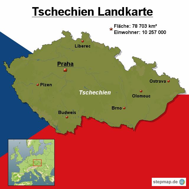 Karte Tschechien.Stepmap Tschechien Landkarte Landkarte Für Europa