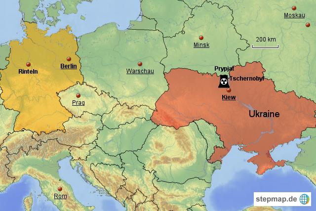 Tschernobyl Karte.Stepmap Tschernobyl Landkarte Für Deutschland