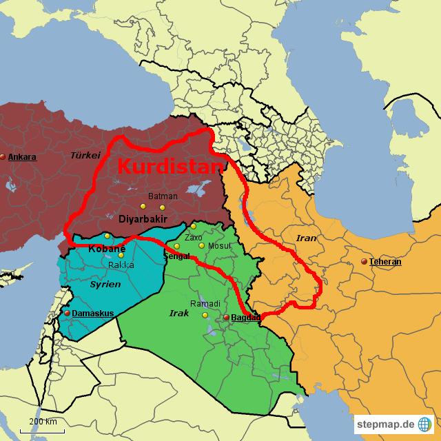 Syrien Irak Karte.Stepmap Türke Syrien Irak Iran Landkarte Für Türkei