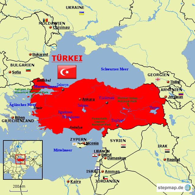 Karte Türkei.Stepmap Türkei Karte Landkarte Für Türkei