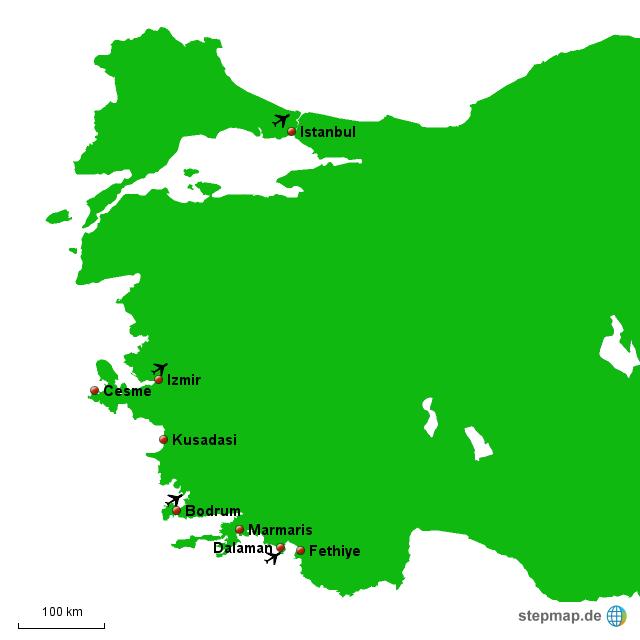 Türkische ägäis Karte.Stepmap Türkische ägäis Landkarte Für Türkei
