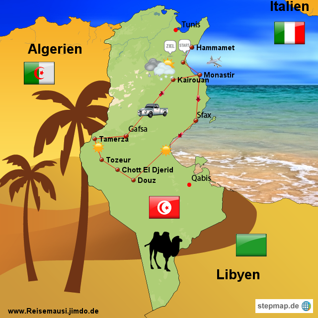Tunesien Karte.Stepmap Tunesien Landkarte Fur Tunesien