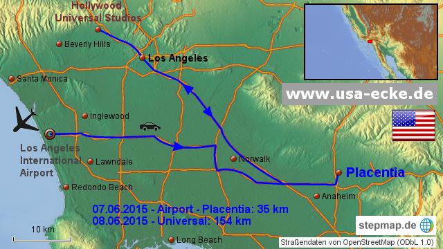 StepMap - USA 2015 Map 1 - Landkarte für USA