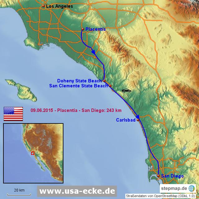 StepMap - USA 2015 Map 2 - Landkarte für Nordamerika