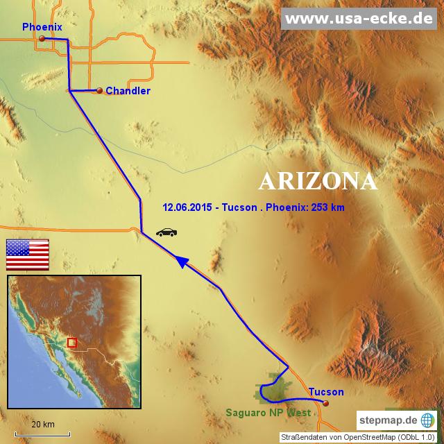 StepMap - USA 2015 Map 4 - Landkarte für Nordamerika
