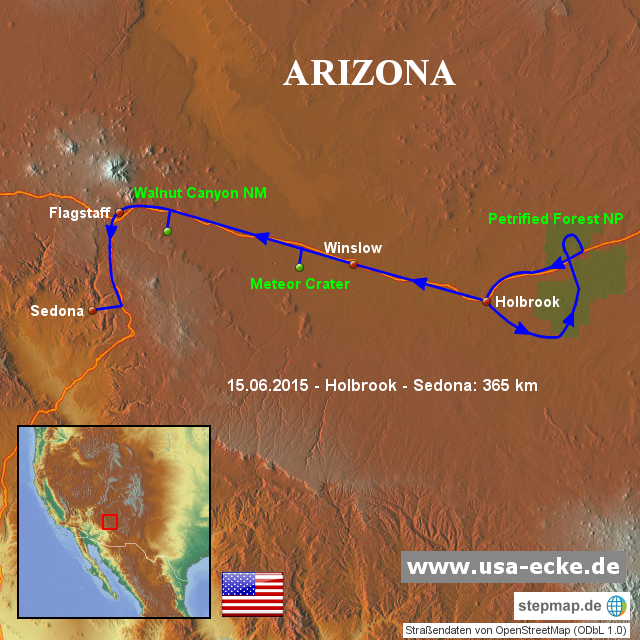 StepMap - USA 2015 Map 6 - Landkarte für Nordamerika