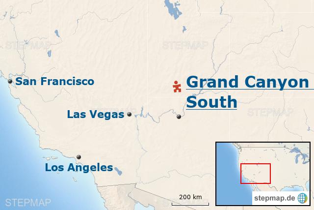 StepMap - USA-Baustein: Atemberaubender Grand Canyon – South ...