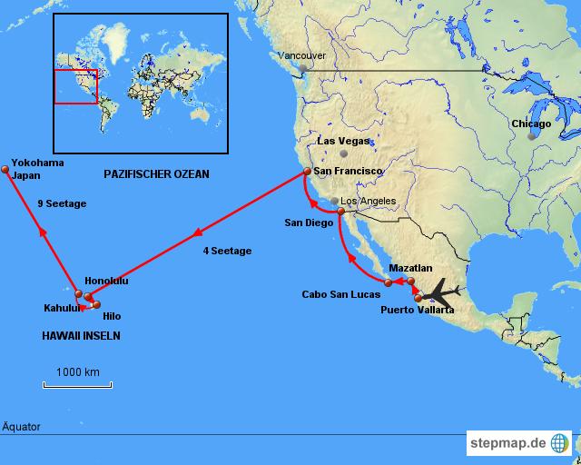 landkarte hawaii StepMap   USA   Hawaii   Asien   Landkarte für Nordamerika landkarte hawaii