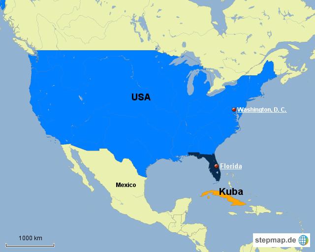 Karte Kuba.Stepmap Usa Kuba Landkarte Für Nordamerika