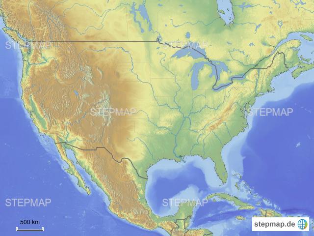 Physische Karte Usa.Stepmap Usa Physisch Landkarte Fur Usa
