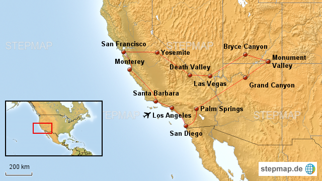 Karte Usa Westen.Stepmap Usa Westen Landkarte Für Usa