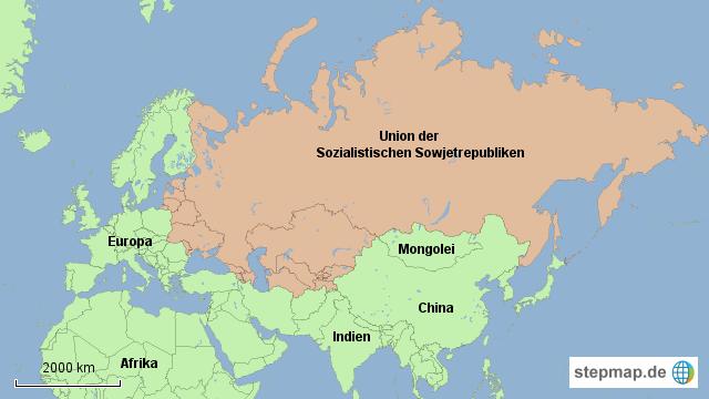udssr karte StepMap   UdSSR   Landkarte für Russland udssr karte